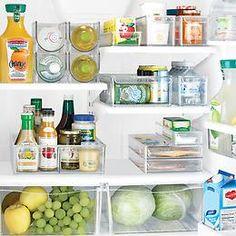 great fridge organizing bins ideas!