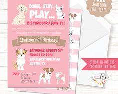 Dog lovers free printable birthday party invitations birthday puppy birthday invitation puppy party invitation puppy party puppy adoption dog party filmwisefo