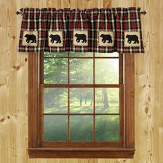 Cabin Place Offers Rustic Curtains Window Treatments Lodge Valances At Discount Decor Prices Our Large