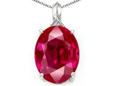 Tommaso Design Created Oval Ruby Pendant Necklace