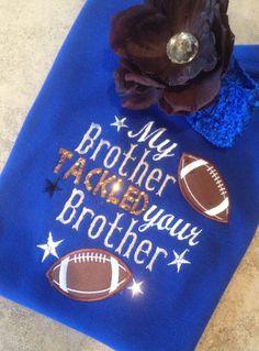 Baseball Alley Designs - Little Sister Football Shirt, $25.00 (http://baseballalley.net/little-sister-football-shirt/)