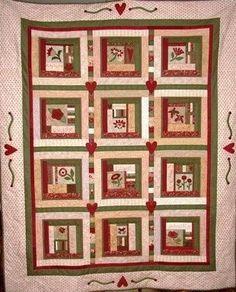SoHo Sampler Quilt Pattern Pieces from my Heart #PH-589 - Fat ... : hutchinson quilt shop - Adamdwight.com