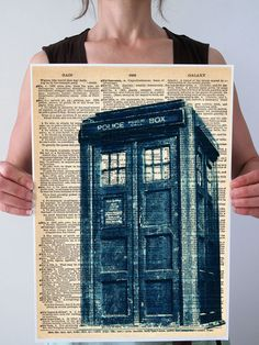 LARGE TARDIS Art Print Poster Giclee Doctor Who by PatricianPrints, $35.00
