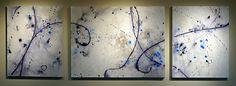 "Beautifully Unraveled by Trisha Adams Acrylic ~ 30"" x 24""; 40""; 24"""