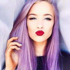 ℒᎧᏤᏋ her long gorgeous straight violet hair..Via The Artistry Of Hair ღღ
