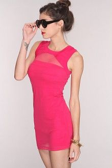 THis pink dress will look amazing with any heels you wear with it!