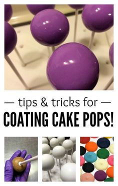 Learn how to dip cake pops like a seasoned pro in a few easy steps. It's important to know what the coating is and how it behaves, then how to thin it and finally, dip into it! pops ideas Fun Dip: How to Make Candy-Coated Cake Pops 13 Desserts, Delicious Desserts, Cake Decorating Tips, Cookie Decorating, Fun Dip, Bon Dessert, Candy Making, Cake Tutorial, Cookies Et Biscuits