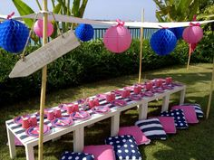 A Preppy Nautical Party