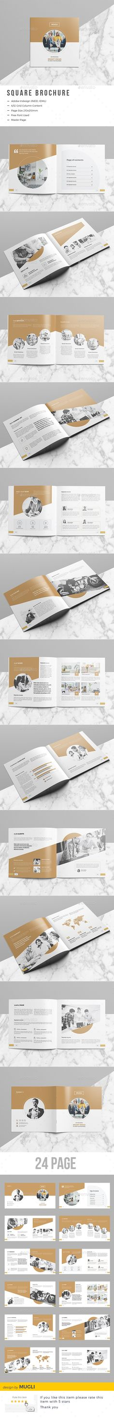 Corporate Square Brochure — InDesign INDD #informational #book • Download ➝ https://graphicriver.net/item/corporate-square-brochure/19576616?ref=pxcr
