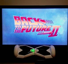 Cheers Marty & Doc for the #hoverboard Keeping kids dreaming since #1989 #backtothefuture #eblade #selfbalancingscooter #martymcfly #bttfday #bttf2015 #bttf #iohawk #airboard #phunkeeduck #uwheels