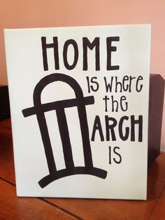 Home is where the Arch is. Making something like this retro-style for the living room.
