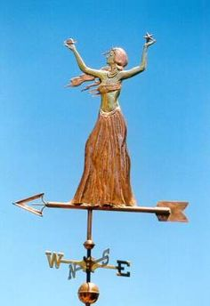 Goddess Weather Vane, with Moon & Stars by West Coast Weather Vanes.  In mythology, a lunar deity is a god or goddess associated with or symbolizing the moon.