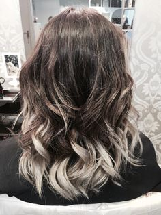My favourite Ombre so far. Ash brown and silver <3