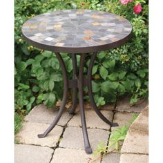 Outdoor Interiors Slate Outdoor End Table - 31625