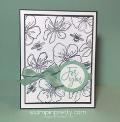 Penned & Painted & Thoughtful Branches Stamp Set birthday card created by Mary Fish, Stampin' Up! Demonstrator.  1000+ StampinUp & SUO card ideas.  Read more http://stampinpretty.com/2016/08/michelle-08-02-2016.html