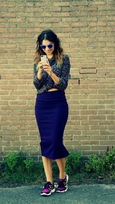 pencilskirt with nikes