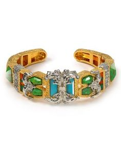Alexis Bittar Pave Accented Gold Small Baroque Hinge Bracelet