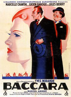 French Film Poster - Baccara - 1935