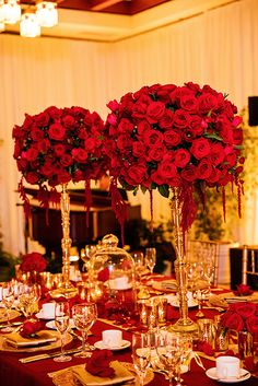 Enchanted Beauty and the Beast inspired wedding reception