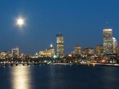 Boston at night. Missing home.