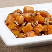Butternut Squash with Pecans and Maple Syrup, Recipe from Cooking.com