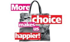 More choice makes us happier photomontage