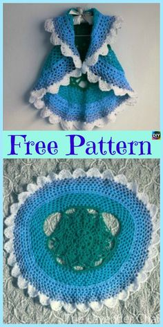 10 Cutest Crochet Circular Vest Free Patterns  #freecrochetpatterns #crochetvest #clothes #crochettop