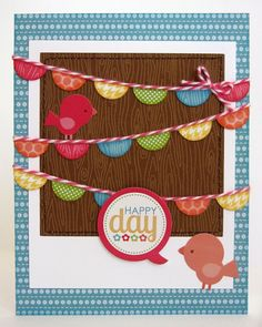 birds and banners card - bjl