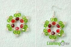 christmas wire jewelry designs | wires by passing the beading path 2nd take an earring hook and attach ...