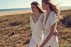 Annika Krijt and Kate Grigorieva star in Massimo Dutti's May 2015 lookbook