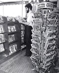 I came across this web site that was totally devoted to vintage photos and information about Duluth Minnesota of all places. And I thought I had the market cornered for obscure topics on the internet with this blog. This is a photo of a local magazine/book shop from 1982.