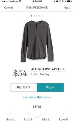 Stitch Fix Men Alternative Apparel Union Henley http://amzn.to/2delndS Price: $37.99 - $54.00 SF price: $54