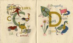 grace gabler alphabet | Grace Gabler, the Alphabet of Illustrators 1945
