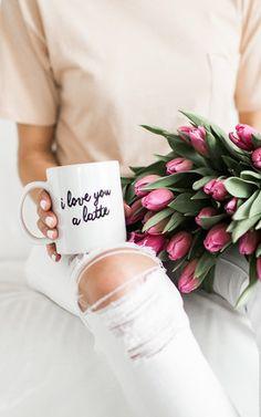 Ily Couture Love You a Latte Mug - Black