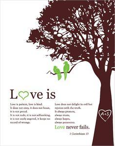1 corinthians 13 Love is patient Personalized by fancyprints(etsy).
