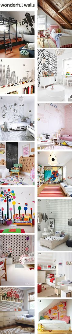 Fabulous kids feature walls.
