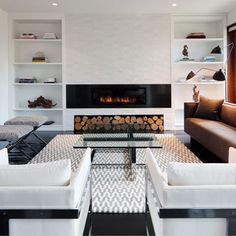 Love the dark floors and light walls. Modern but still feels warm and inviting.(~.~) 2B