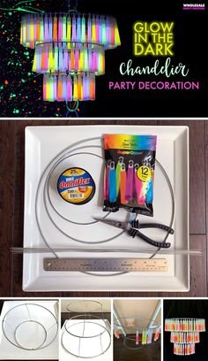 Time for a DIY Glow up! Gather your glow sticks and get ready to add layers of light to your glow-in-the-dark party set up. Glow In Dark Party, Glow Stick Party, Glow Sticks, Neon Party Decorations, Neon Birthday, 16th Birthday, Birthday Parties, Blacklight Party, Wholesale Party Supplies