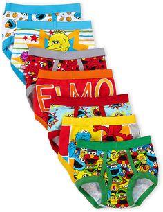 0a21c6a8c8e Sesame Street Toddler Boys) 7-Pack Printed Briefs Packing