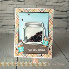 Lawn Fawn How You Bean? Shaker Card | Spring Coffee Lovers Blog Hop