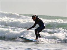 Trying to surf in Raglan NZ