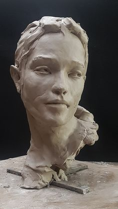 Sculpture Head, Bronze Sculpture, Sculpture Romaine, Statues, Sculpture Projects, Contemporary Sculpture, Paperclay, Oeuvre D'art, Art Reference
