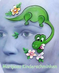 Face Painting Designs, Body Painting, Dinosaur Face Painting, Halloween, Face And Body, Make Up, Children, Projects, Fun