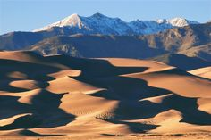 Dunes and Cleveland Peak at Sunset | Great Sand Dunes National Park, Colorado