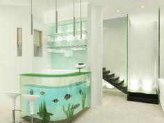 wet bar aquarium