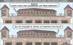 Charge do Lute sobre delação premiada (20/06/2016). #Charge #DelaçãoPremiada #LavaJato #Política #HojeEmDia
