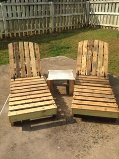 DIY Recycled Pallet Lounge Chairs | #Pallet-Furniture