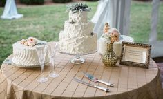 A wedding cake from the Inn at Warner Hall!  www.grantdeb.com