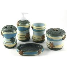 Turtle bathroom on pinterest sea turtles turtles and for Sea bathroom accessories