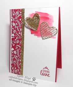 Cattail Designs: Be my valentine, part 1 Sealed with Love bundle, Sending Love DSP, Gold Glimmer paper